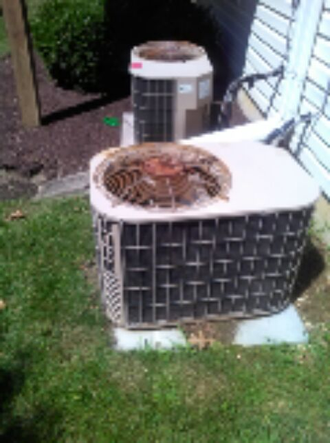 Gambrills, MD - York AC air conditioner heating & air conditioning system replacement installation service call in Gambrills Maryland.