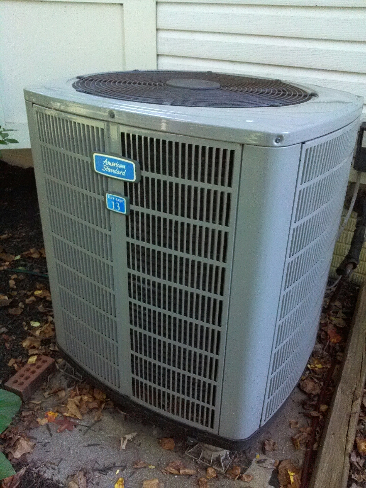 Gambrills, MD - Trane heat pump heating & air conditioning system replacement installation service call in Crofton Maryland.