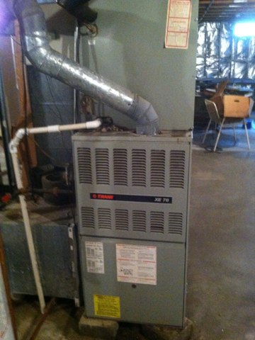 Crofton, MD - Trane gas furnace ac heating and air conditioning system replacement installation service call Crofton Maryland.