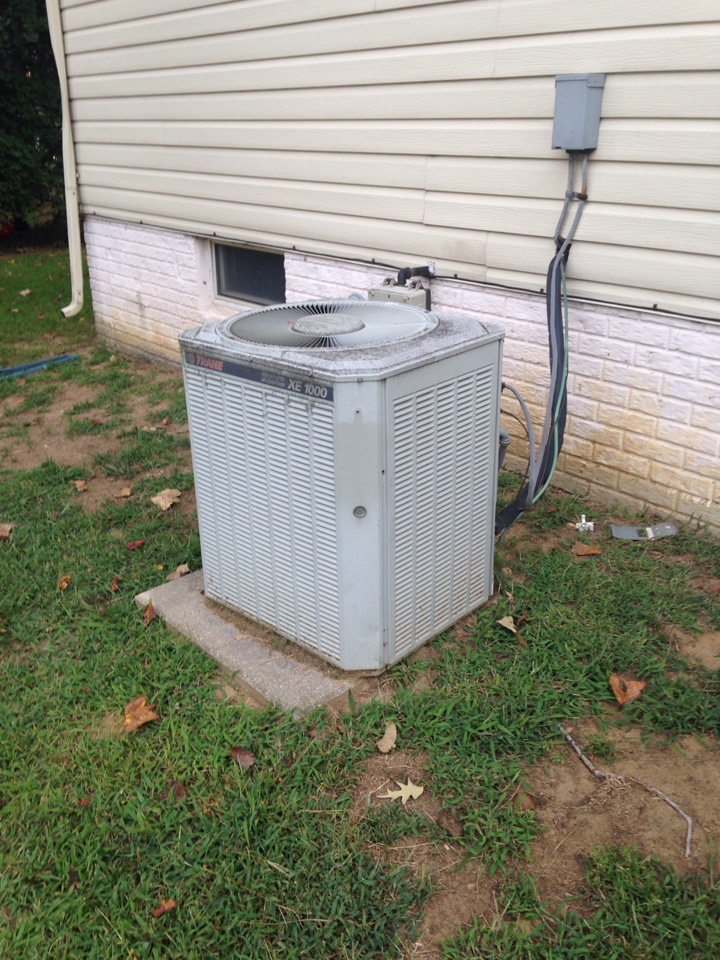 Crofton, MD - Trane furnace & A/C heating & air conditioning system replacement installation.