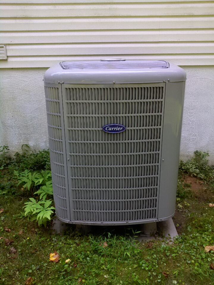 Gambrills, MD - Carrier heat pump AC heating & air conditioning system replacement installation service call in Gambrills Maryland