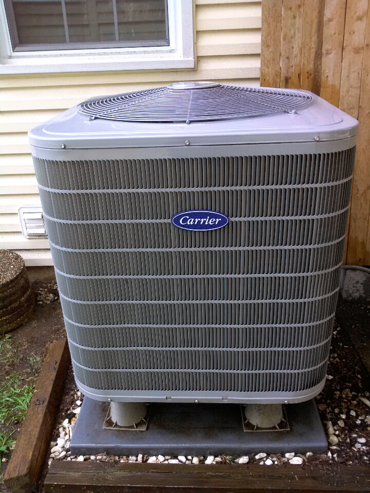 Crofton, MD - Carrier heat pump AC heating & air conditioning system replacement installation service call in Crofton Maryland