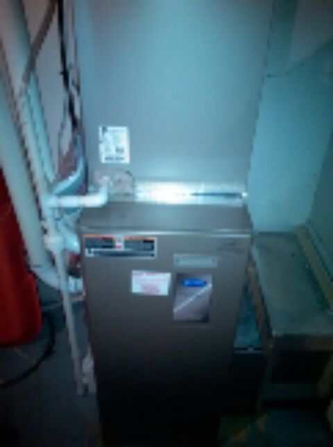 Crofton, MD - Carrier furnace AC air conditioner heating & air conditioning system installation repair service call in Crofton Maryland.