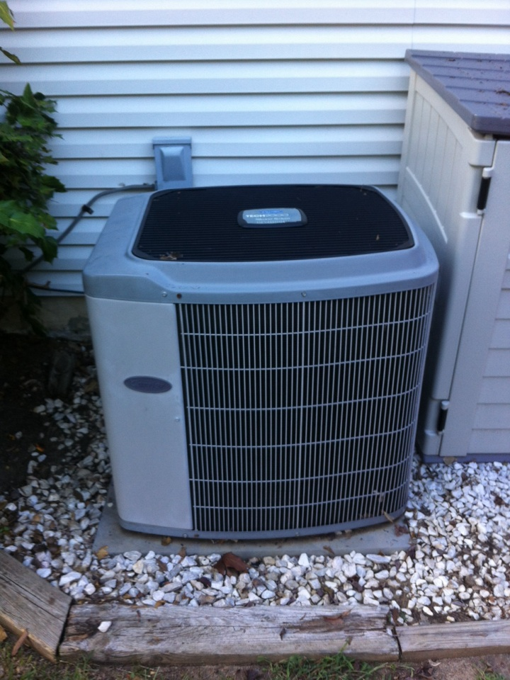 Crofton, MD - carrier heating furnace & ac air conditioning system installation repair service call in crofton maryland.