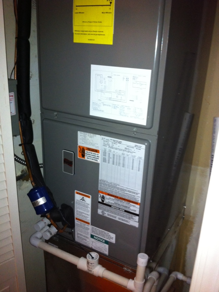 Crofton, MD - ruud gas furnace ac heating and air conditioning system installation repair service call in bowie maryland.