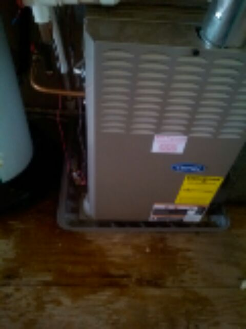 Crofton, MD - Carrier gas furnace AC heating & air conditioning system installation repair service call in Crofton Maryland.