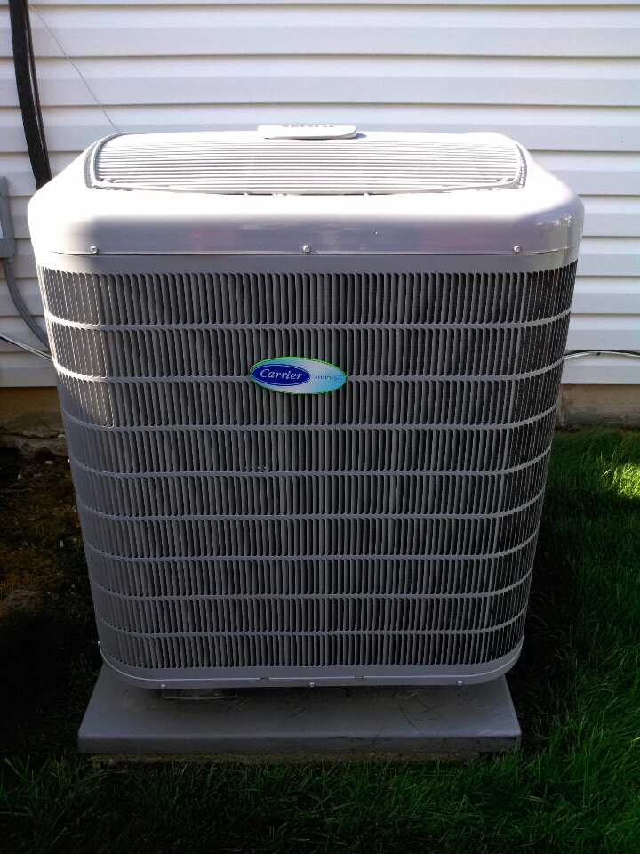 Gambrills, MD - Heat pump furnace AC heating & air conditioning system replacement installation service call in Gambrills Maryland.