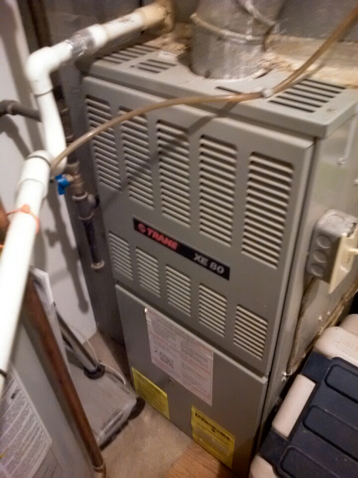 Crofton, MD - Trane furnace ac heating & air conditioning system installation repair service call in Crofton Maryland.