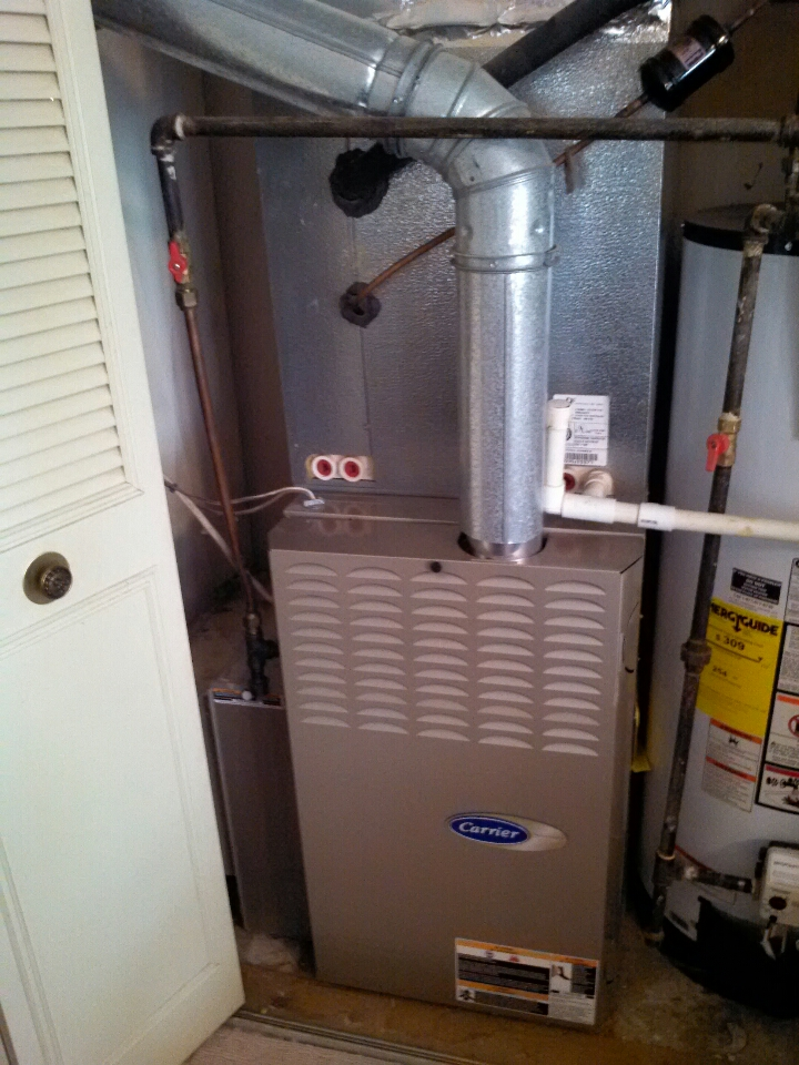 Crofton, MD - Gas furnace a/c heating & air conditioning system installation repair service call in Crofton Maryland.