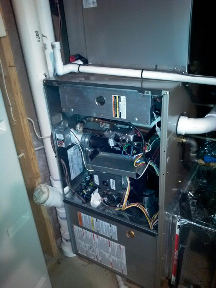 Crofton, MD - Gas furnace maintenance repair service call in Crofton Maryland.