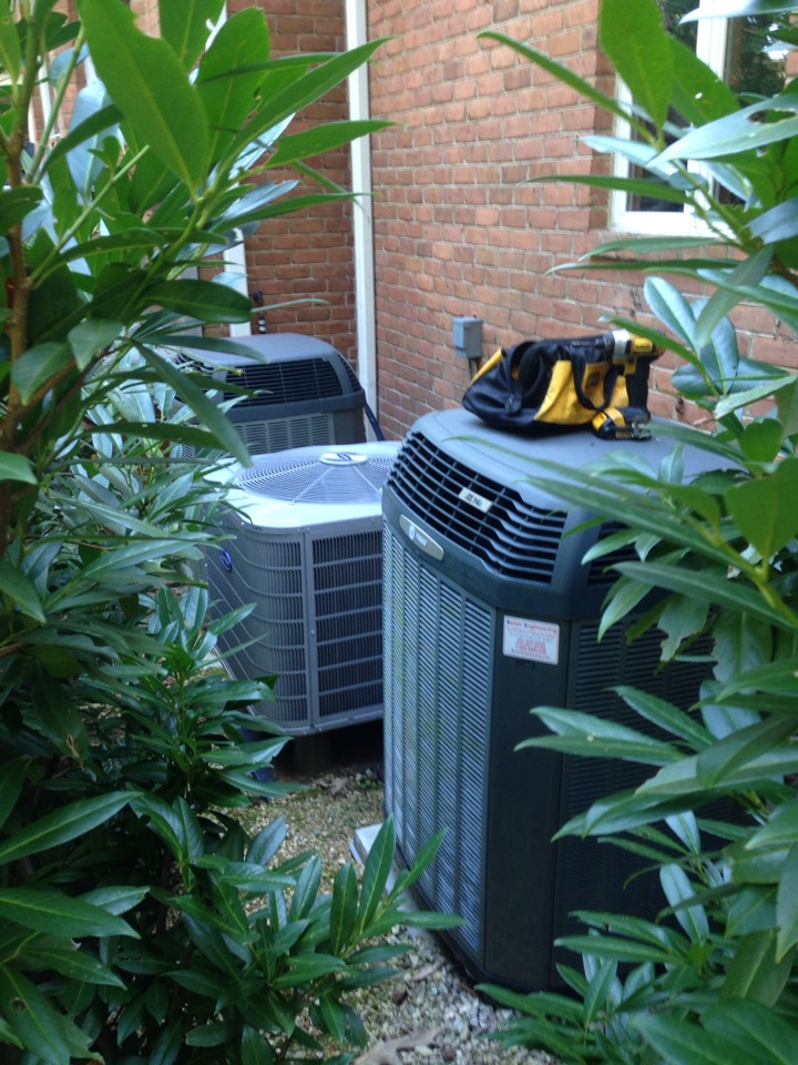 Gambrills, MD - Heat pump furnace heating & air conditioning system replacement installation service call in Gambrills Maryland.