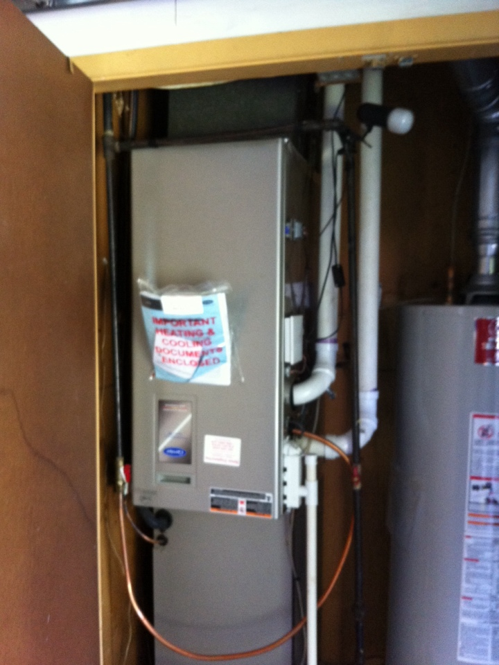 Crofton, MD - Furnace heating system repair service maintenance tune-up call in Crofton Maryland.