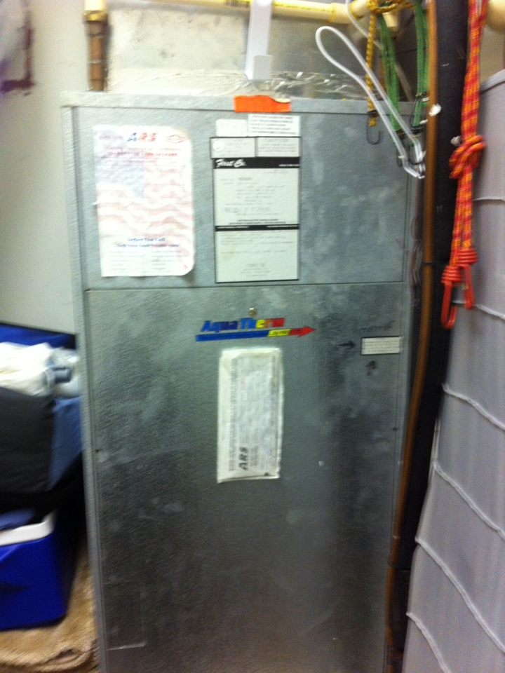 Gambrills, MD - Aqua-therm furnace heating & air conditioning system repair service call in Gambrills Maryland.
