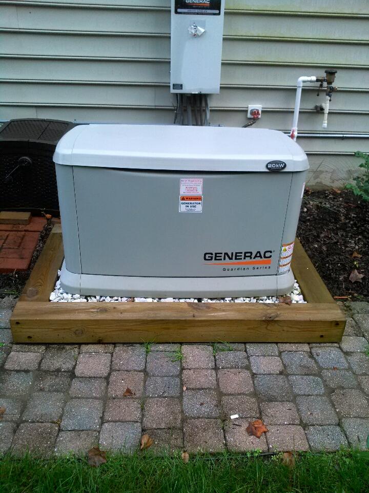 Crofton, MD - Gas fireplace insert & gas logs installation repair service & standby generator installation maintenance tune up call in Crofton Maryland.
