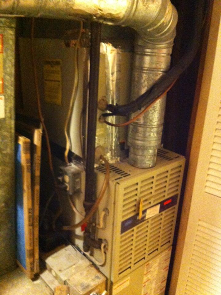 Crofton, MD - Gas heating furnace repair service call in Crofton Maryland.