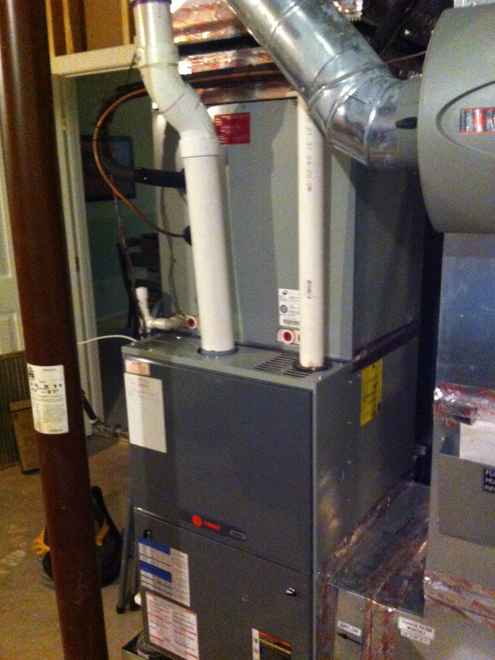 Gambrills, MD - Trane heating furnace repair service call in Gambrills Maryland.