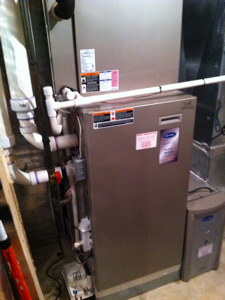 Crofton, MD - Carrier furnace AC heating & air conditioning system installation repair service call in Crofton Maryland.