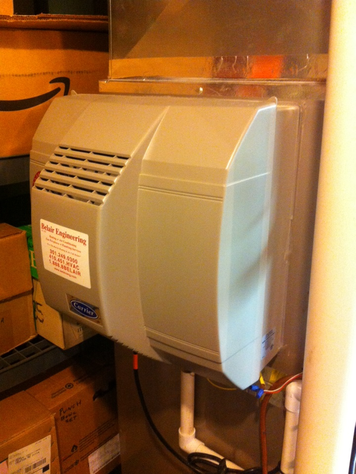 Crofton, MD - Carrier furnace humidifier repair service call in Crofton Maryland.