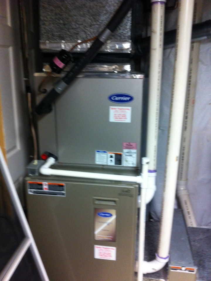 Crofton, MD - Heating & air conditioning system installation repair service call in Crofton Maryland.