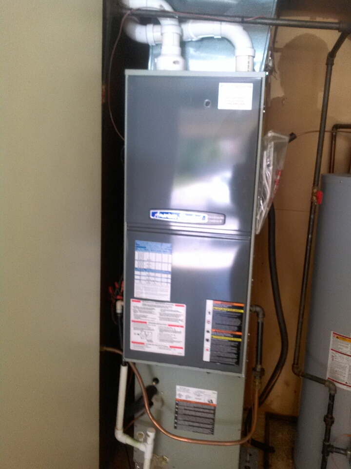 Crownsville, MD - Heating & air conditioning system installation repair service call in Crownsville Maryland.