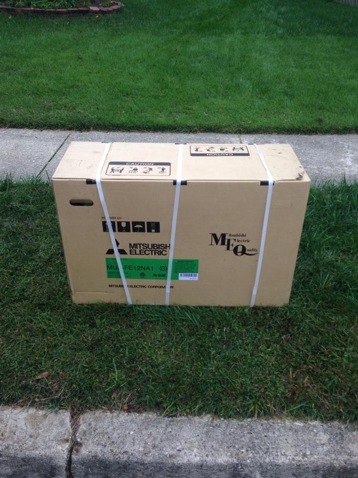 Crofton, MD - Mitsubishi mini split heatpump heating & cooling system installation service call in Crofton Maryland.