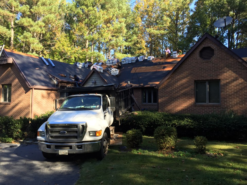 Hollywood, MD - Getting it done new GAF Timberline roof and gutters