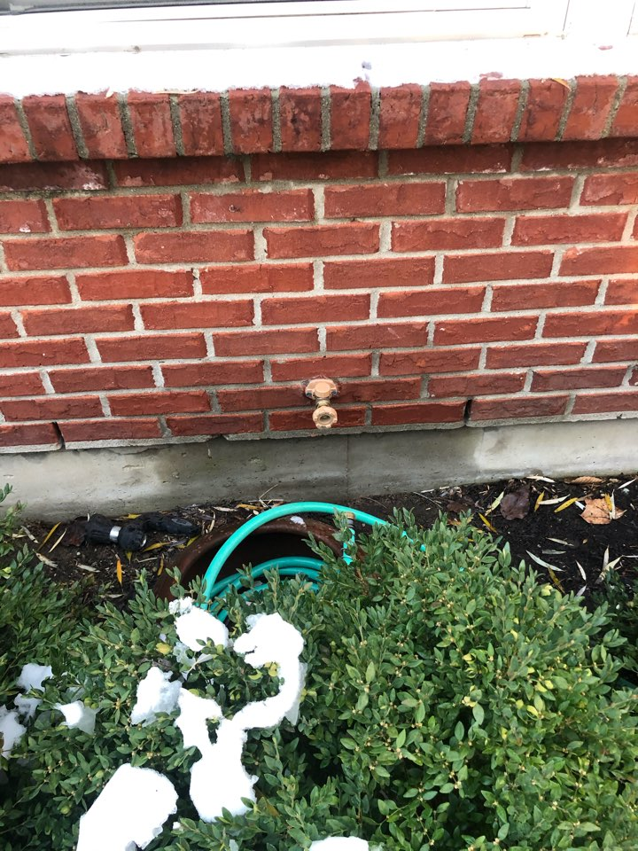 Installed new outside faucet in Springboro, OH