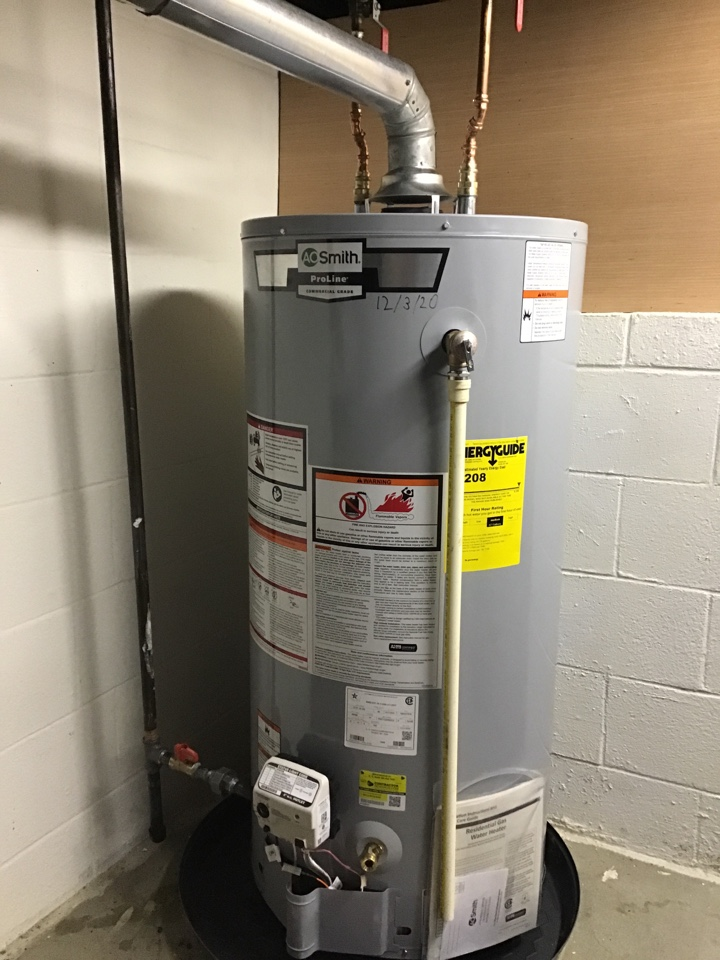 Installed 40 gallon gas b vent water heater in Germantown, OH