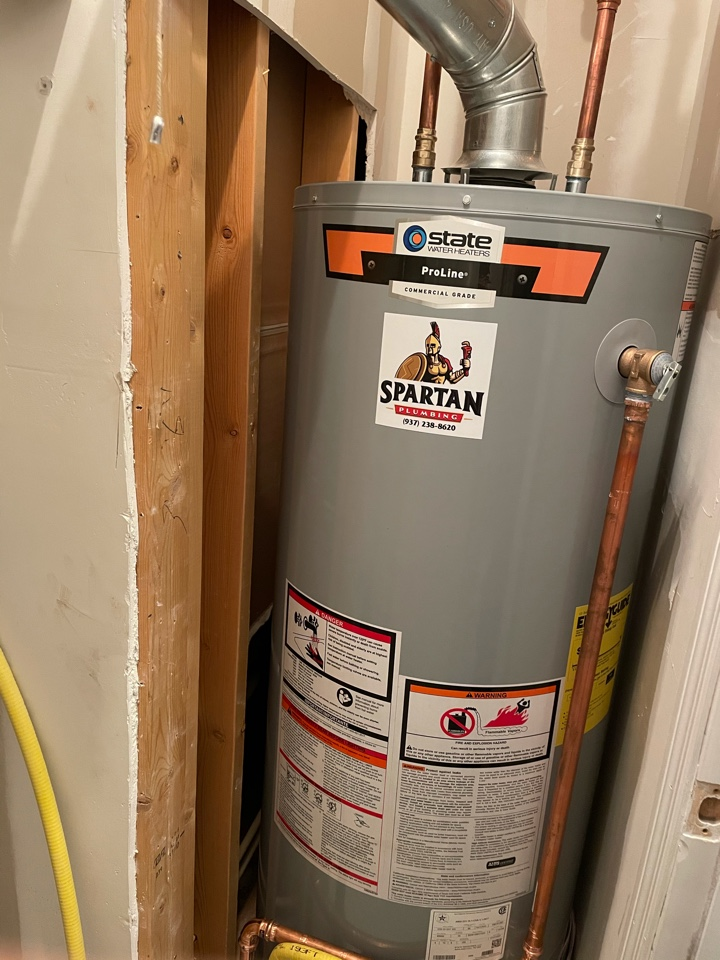 Miamisburg, OH - Installed new 50 gallon gas water heater and water softener in Germantown, OH