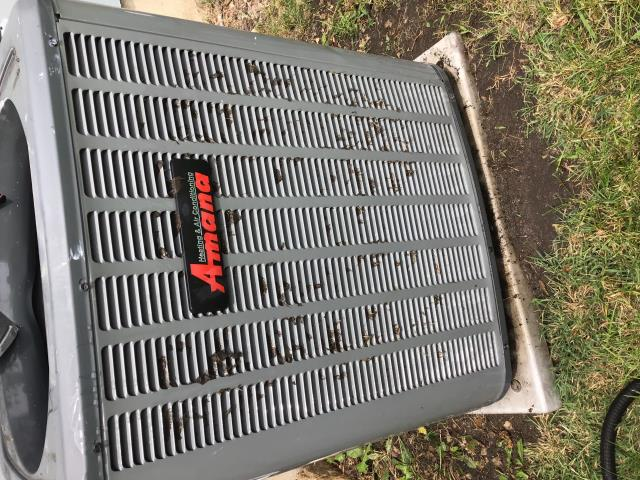 Channahon, IL - Fairhaven subdivision air conditioning repair. AC not cooling. Found clogged condensation drain pipe and dirty outdoor compressor. Performed a complete ac clean and check and reset to factory specs. AC operating normally now.