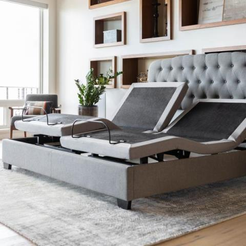 customers came in searching for a split king adjustable hybrid mattress to help with snoring and indigestion. After learning all about hybrid technology it was easy for them to find the perfect one out of our huge selection of hybrid adjustable mattresses.