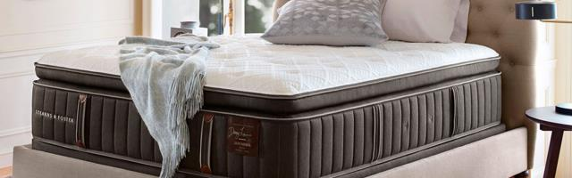 Cantonment, FL - customer came in search of the best mattress. She found that our huge selection made it easy to find the perfect Sterns and Foster mattress.