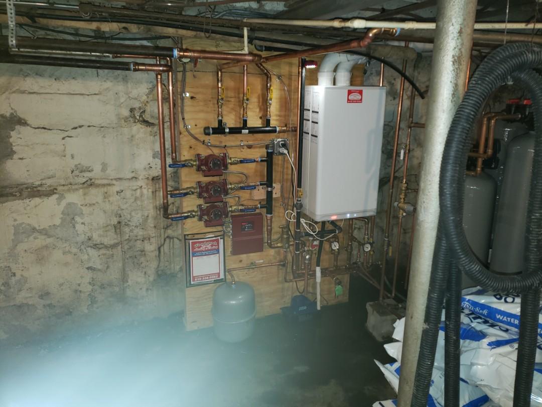 Harvard, IL - Installed new IBC Combi boiler.