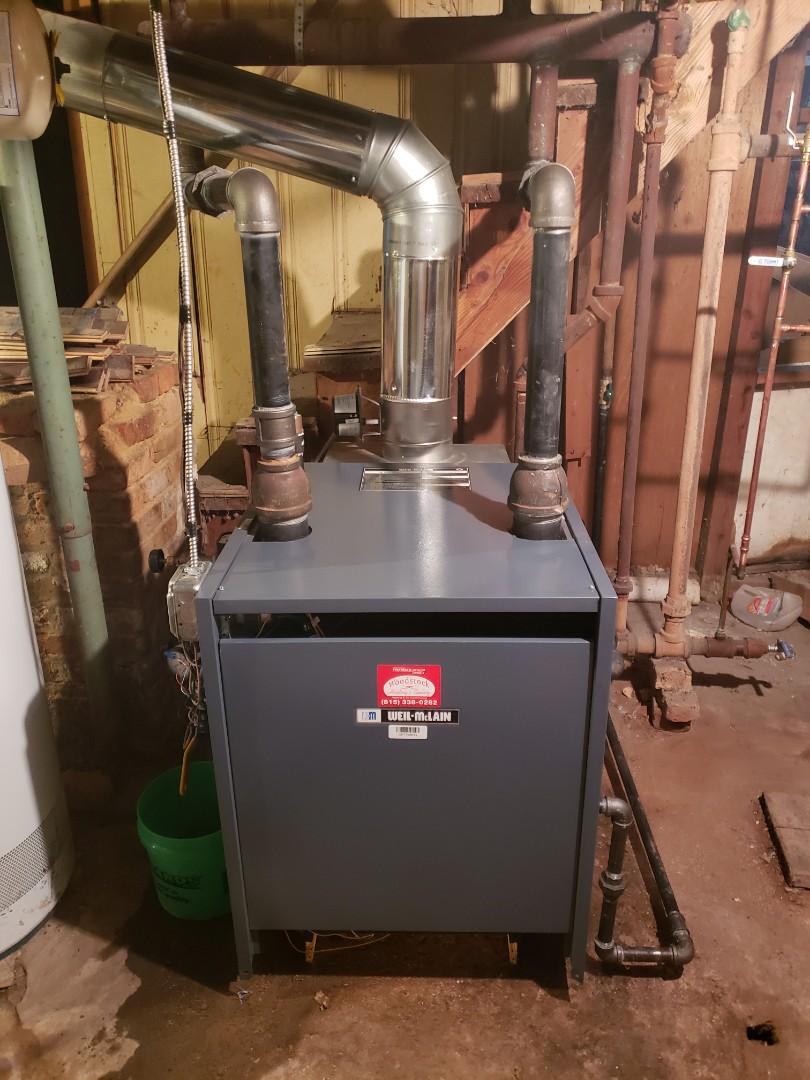 Harvard, IL - Installed new Weil-McLain steam boiler