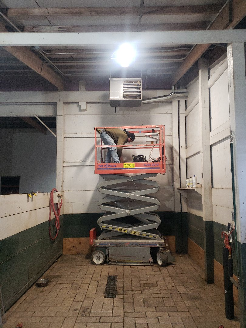 Harvard, IL - Installed the homeowner supplied unit heater.