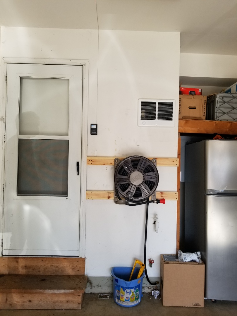 McHenry, IL - Came out for a free estimate for a garage heater unit. Connection for electrical as well as gas connection is all there, it should be a simple installation.