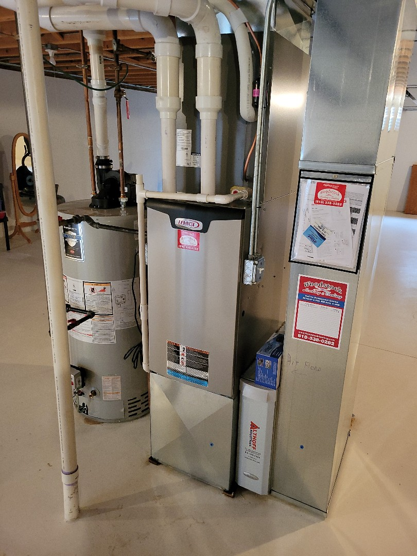 Woodstock, IL - Whit's install of a furnace, AC, and iWave air purifier. Their new system will solve the issues they were having with allergies and indoor air quality.