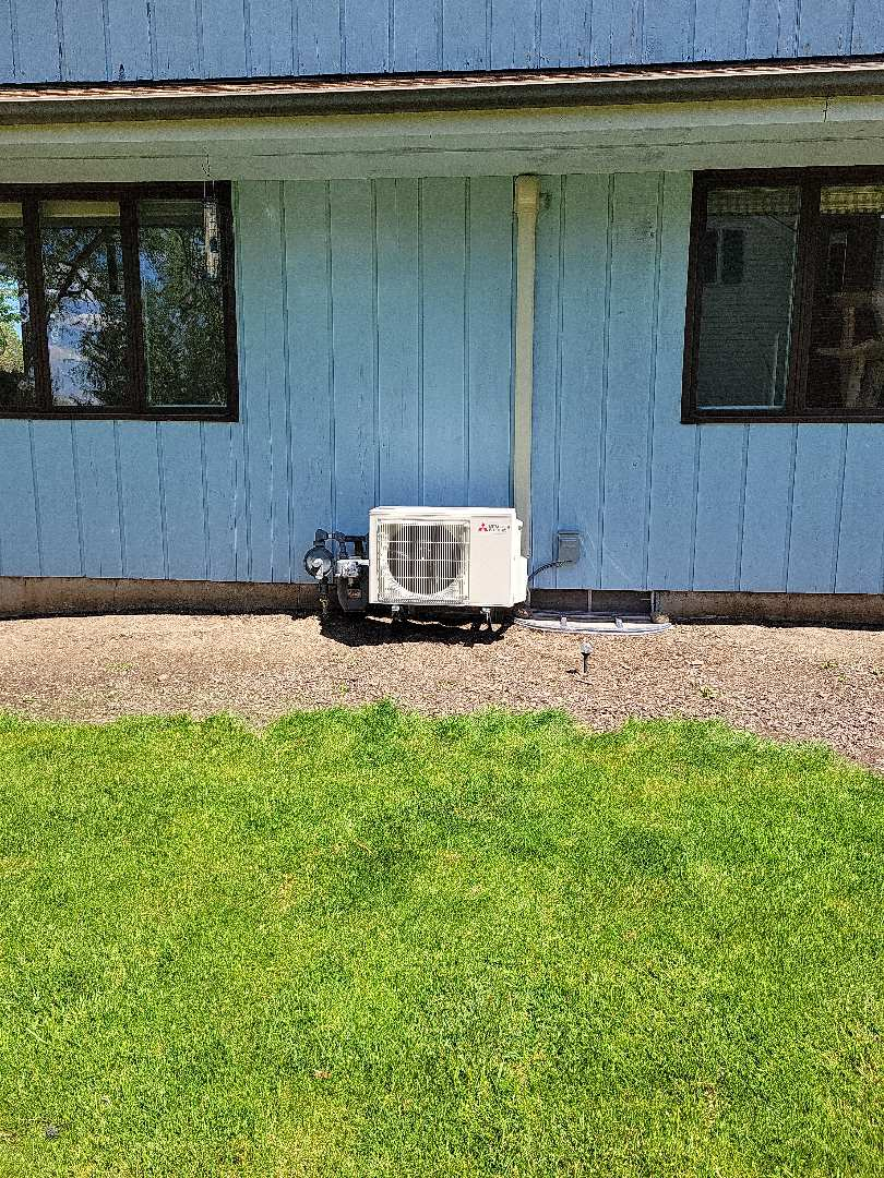 Harvard, IL - Whit's install of a new Mitsubishi ductless mini split just in time for summer. Having it's own zone will allow this space to be extremely comfortable.