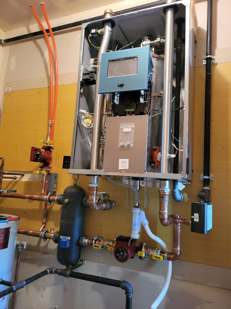 Bull Valley, IL - Whit's handy work on a new boiler install for snow melt job.