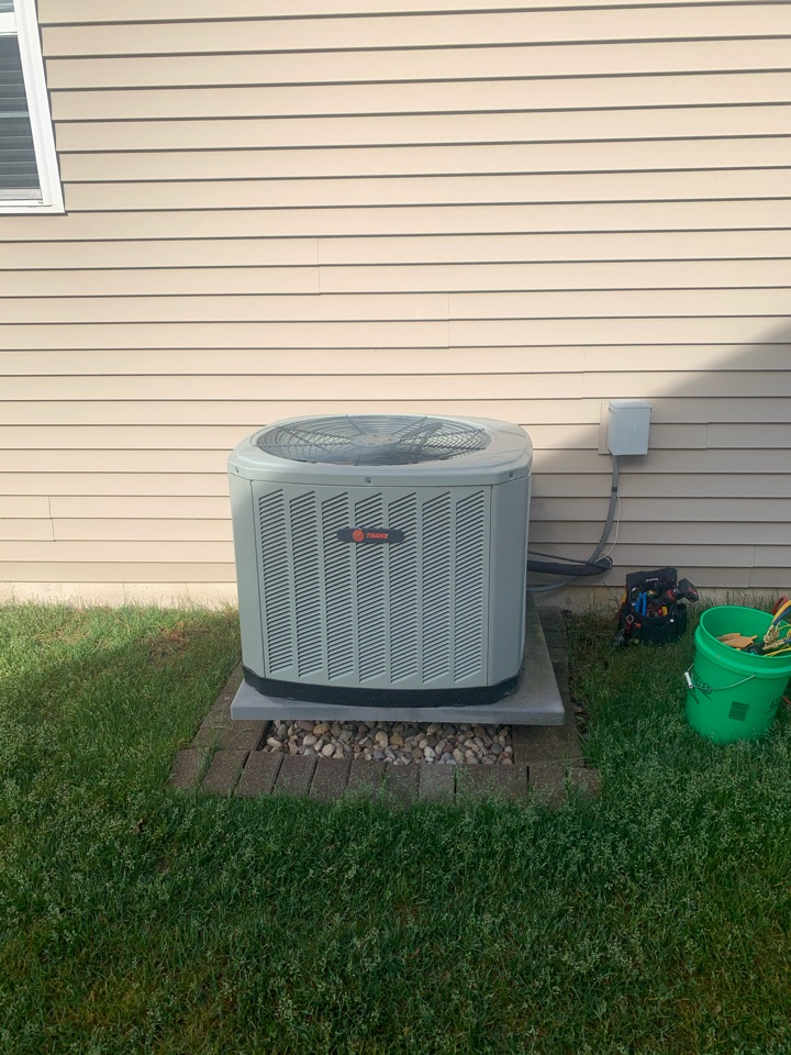 Huntley, IL - An air conditioner cleaning and inspection performed by our technician Jon in Huntley.