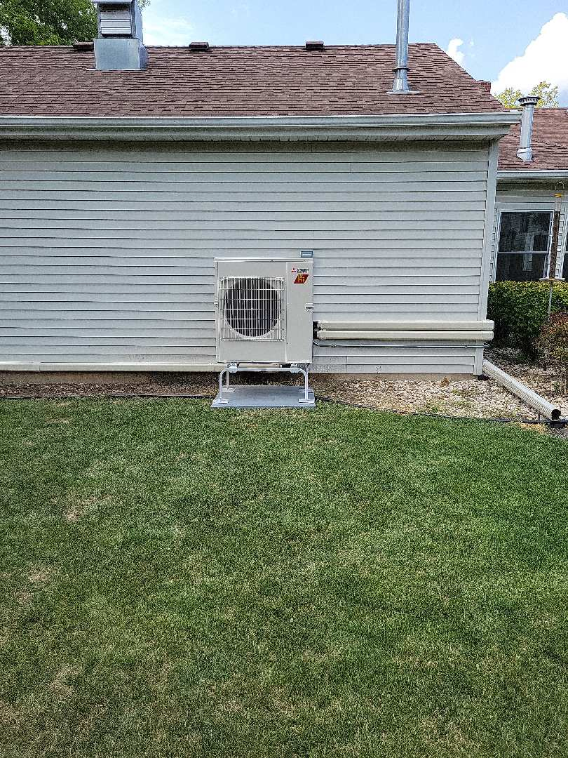 Harvard, IL - Whit and Alex's install of a multi-zone Mitsubishi ductless mini split system. Serving this customer's garage and sun room, these spaces now have zoned heating and cooling and will be far more comfortable.
