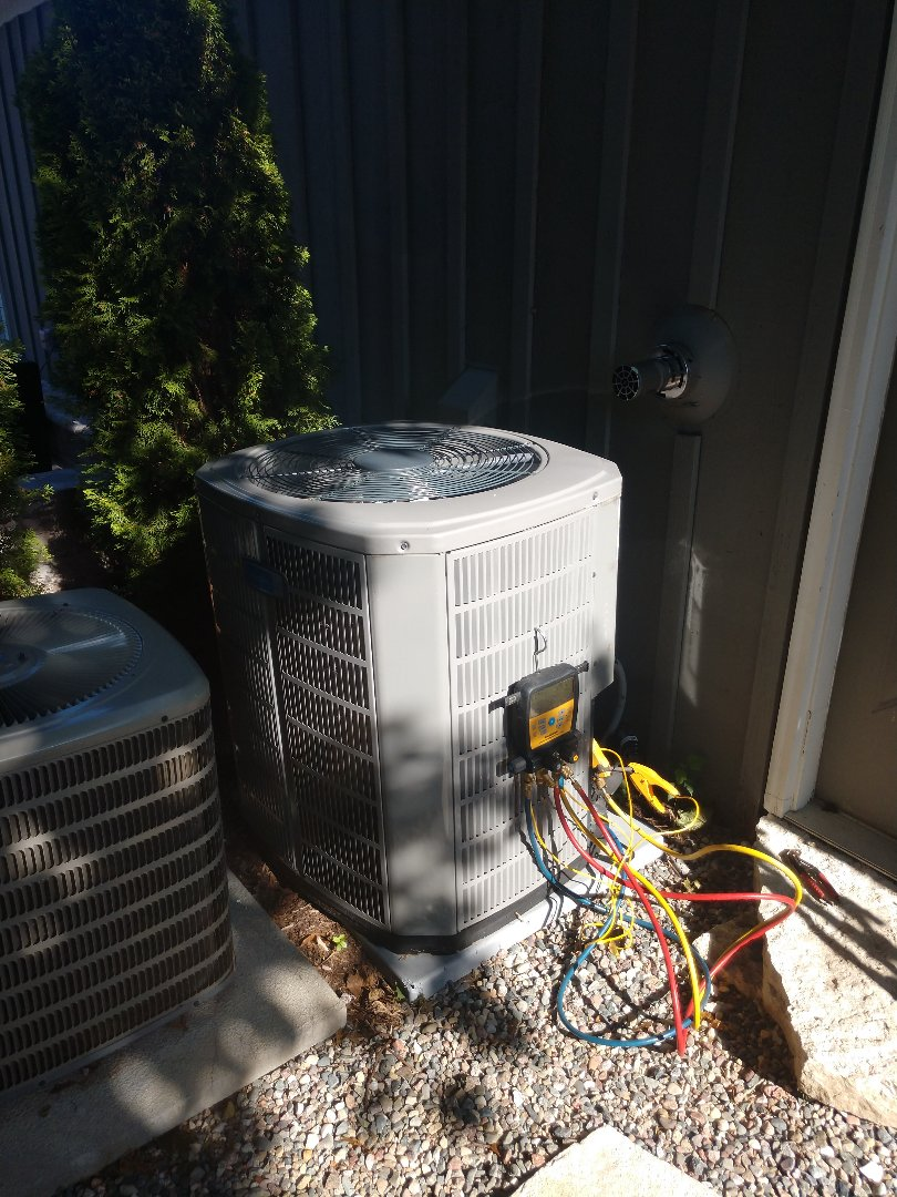 Village of Lakewood, IL - JD performed two AC clean and checks for a multi unit home in Lakewood. Everything is in operational condition at this time.
