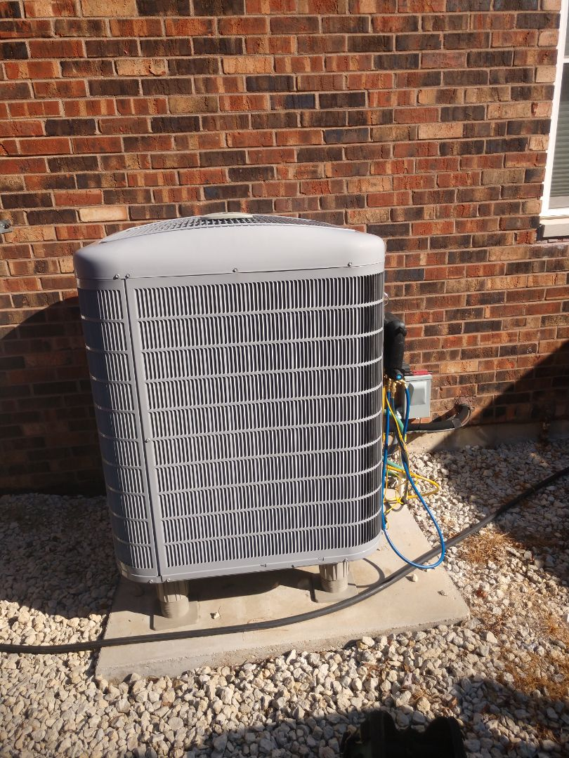 Marengo, IL - AC clean and check.  This unit is running efficiently, cleaned the coil as well.  Will be good to go for the rest of the year.