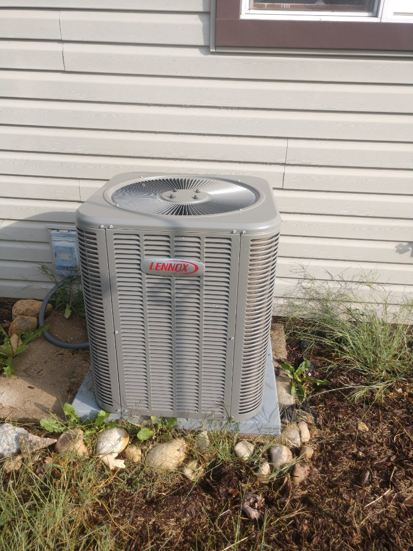 Wonder Lake, IL - AC clean and check.  The condensing coil needed to be cleaned.  This unit will be running more efficiently now.
