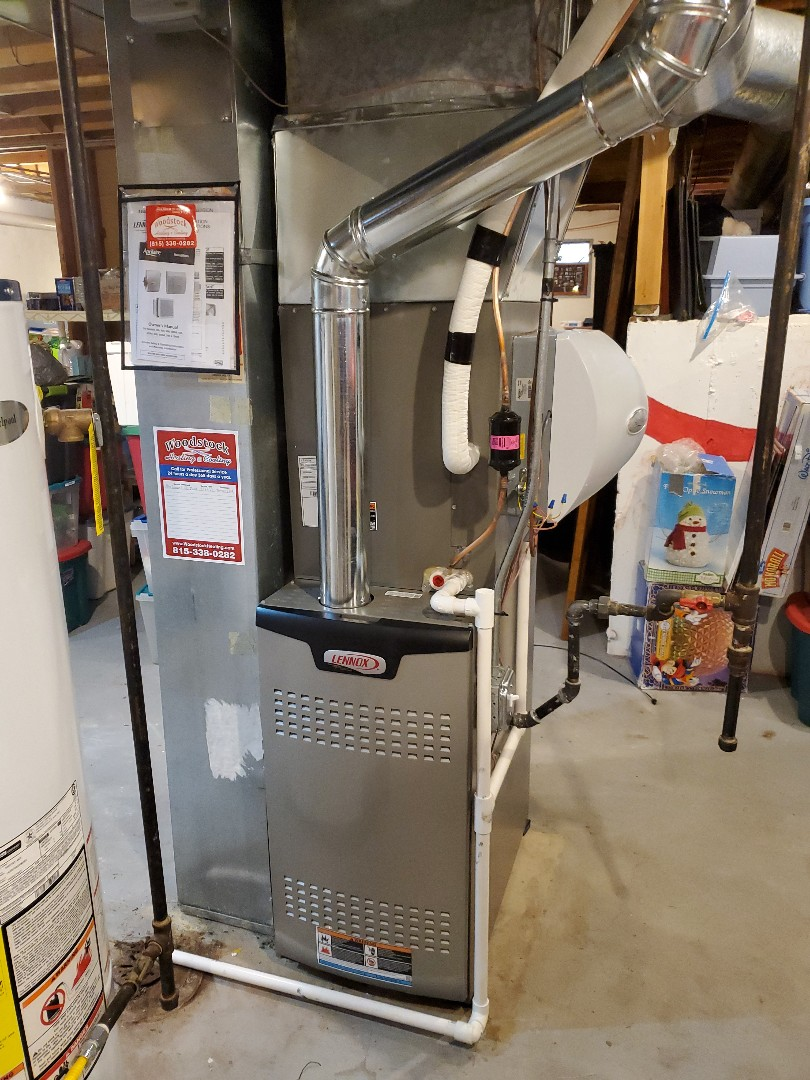 Crystal Lake, IL - The furnace & coil portion of Alex & Russ' full system install in Crystal Lake.