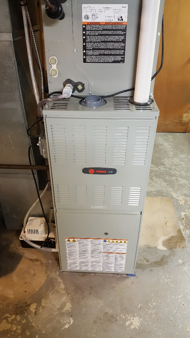 Machesney Park, IL - Replaced heat exchanger in this Trane furnace.