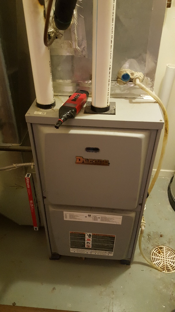 Rockford, IL - Seasonal furnace inspection on a Ducane furnace.