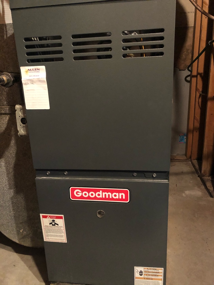 Rockford, IL - Annual furnace maintenance inspection and cleaning