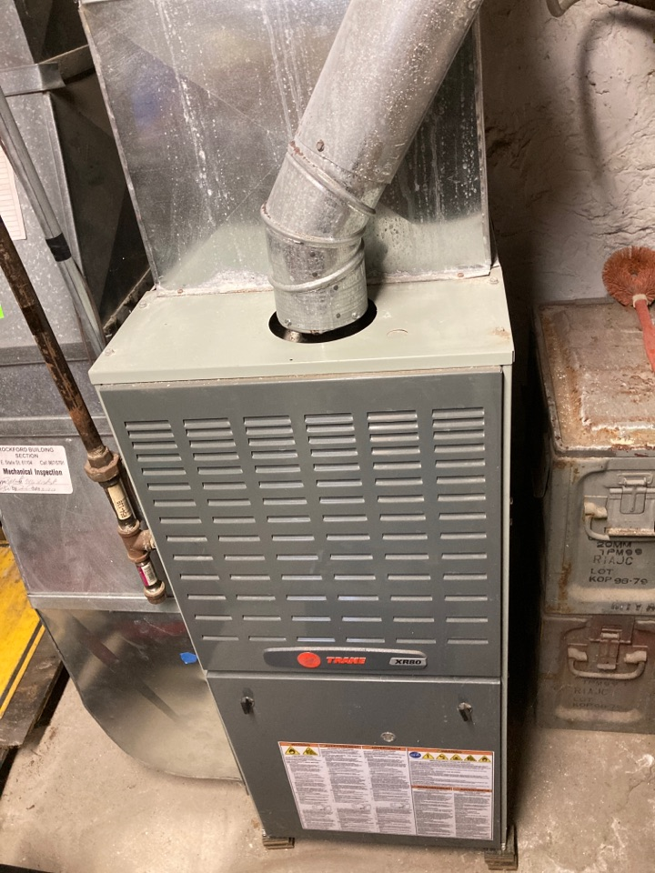 Rockford, IL - Performed another seasonal maintenance on a Trane furnace. It's hard to stop a Trane.