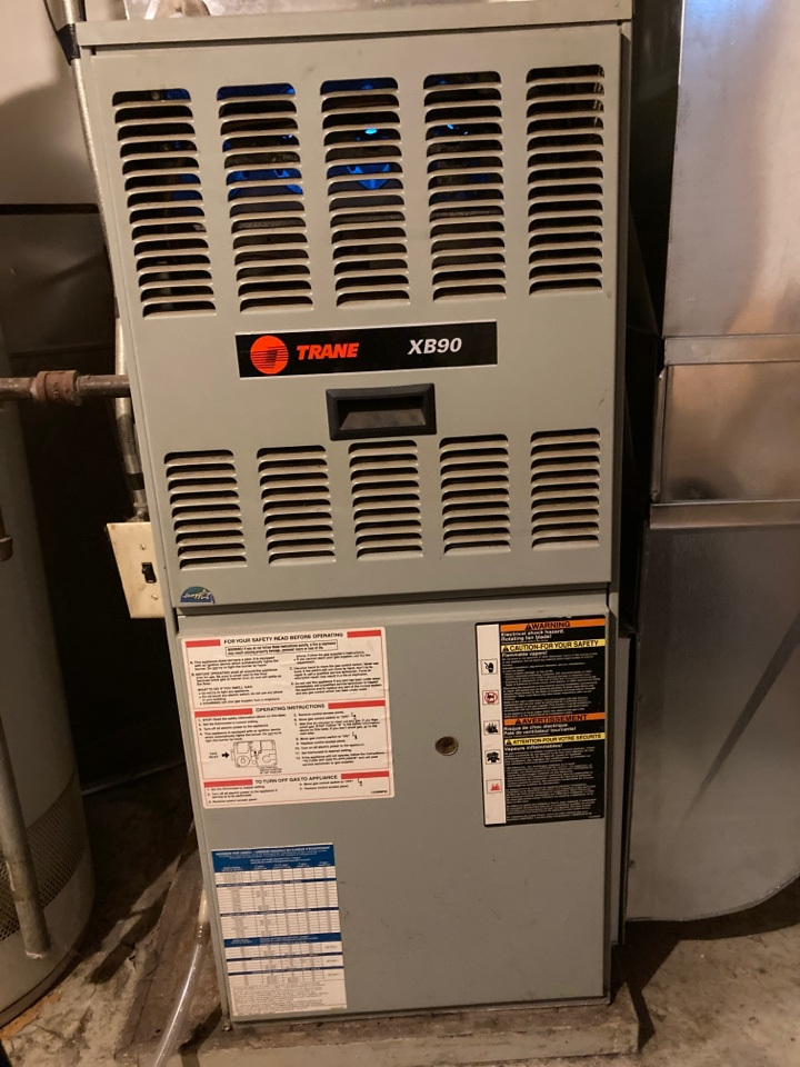 Rockford, IL - Another Trane furnace getting a thorough clean and check.